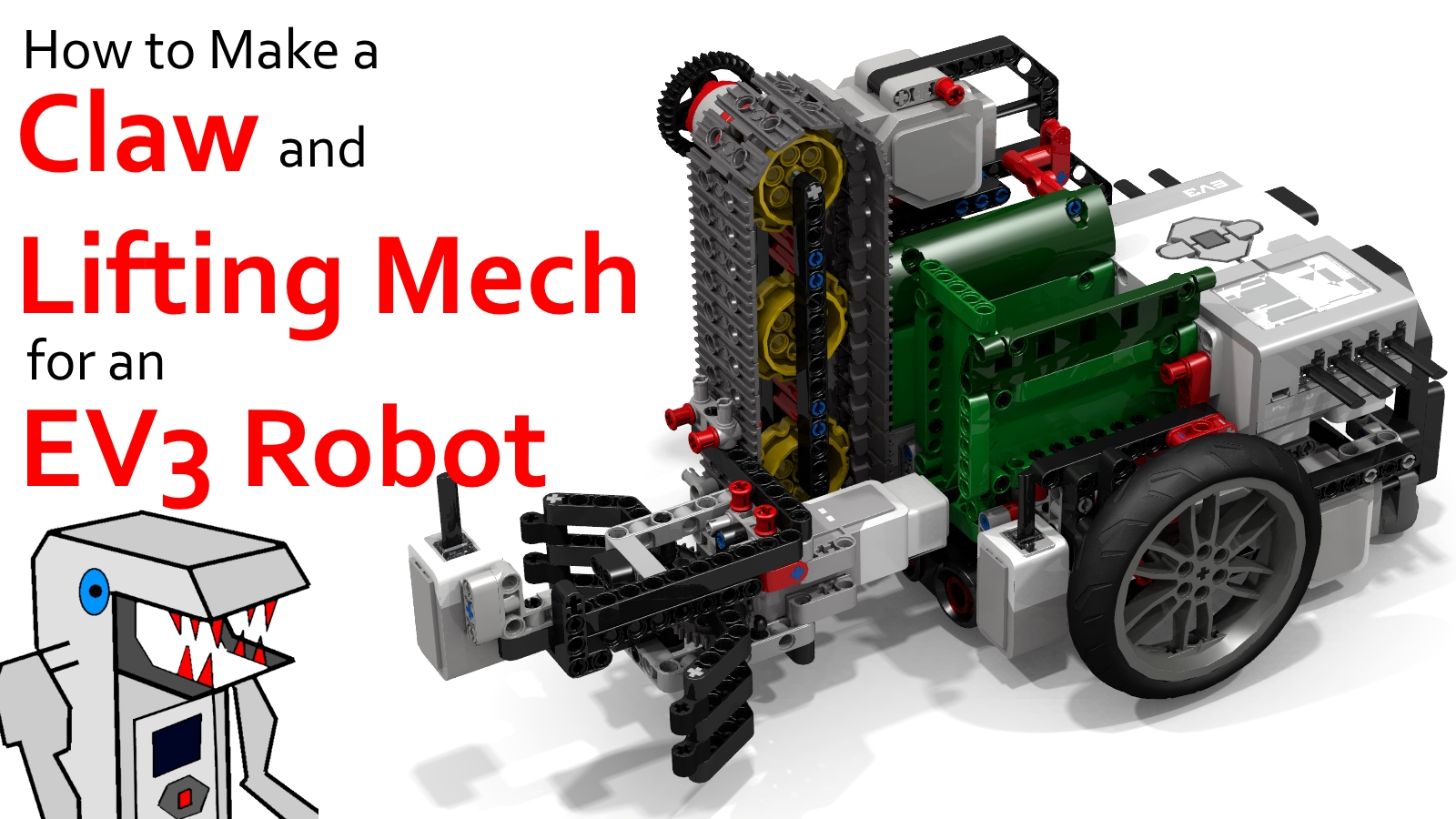 Make a Claw and Lift Mechanism for your EV3 Robot – Builderdude35